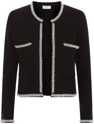 Claudie Pierlot Knitted Embellished Trim Cardigan