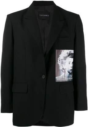 Yuiki Shimoji graphic print oversize blazer