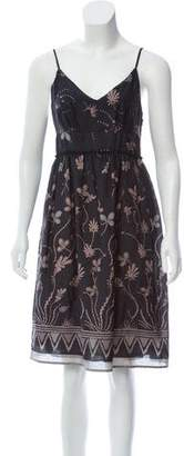 See by Chloe Silk Floral Print Dress