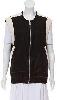IRO Leather Trim Linen Vest