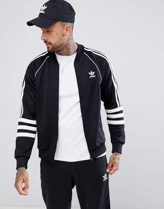 adidas Authentic Superstar Track Jacket In Black Dj2856