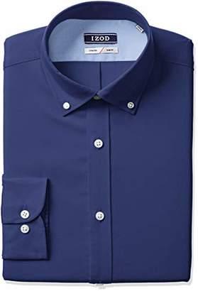 Izod Men's Slim Fit Solid Button Down Collar Dress Shirt