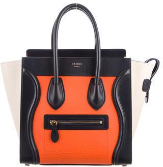 CelineCéline Tricolor Micro Luggage Tote