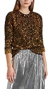 Paco Rabanne Women's Leopard Jacquard Fuzzy Mohair-Blend Sweater