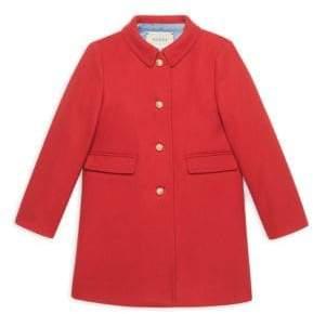 Gucci Little Girl's& Girl's Wool Coat