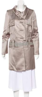 Gucci Heavyweight Knee-Length Coat Silver Heavyweight Knee-Length Coat
