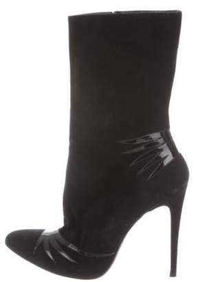 Barbara Bui Suede Ankle Boots Black Suede Ankle Boots