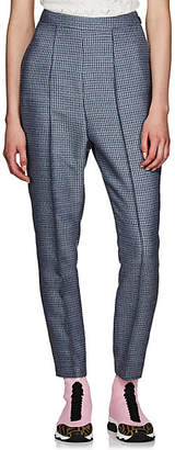 8de925a2614f Fendi Women s Checked Wool-Blend Tapered Pants - Blue