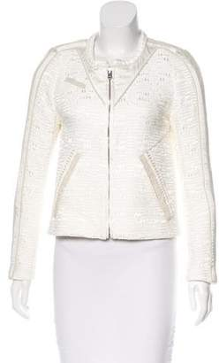 IRO Printed Scoop Neck Jacket