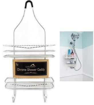 AllTopBargains Chrome Shower Caddy Bathroom Tub Hanging Organizer Storage Basket Soap Holder