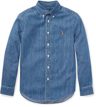 Ralph Lauren Childrenswear Woven Chambray Shirt, Size S-XL