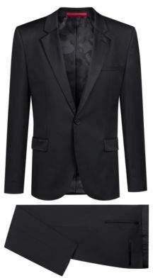 HUGO Boss Extra-slim-fit tuxedo in virgin wool reverse lapels 36R Black