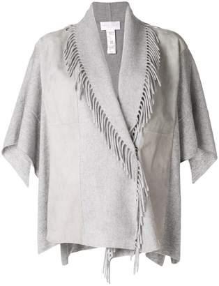 Fabiana Filippi fringed detail knitted jacket