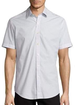 Robert Graham Stars Short-Sleeve Cotton Shirt