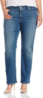 Levi's Women's Plus-Size 414 Relaxed Straight Jean (Plus), Northwest Sky Plus, 16 M