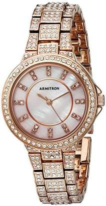 Swarovski Armitron Women's 75/5317PMRG Crystal Accented -Tone Bracelet Watch