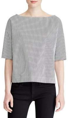 Polo Ralph Lauren Short-Sleeve Boxy Cotton Blouse