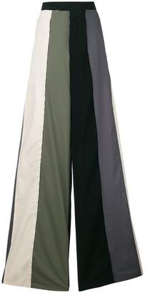 Rick Owens striped wide leg trousers