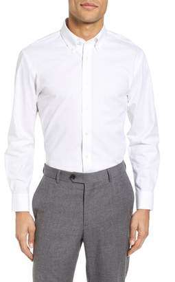 Nordstrom Tech-Smart Trim Fit Stretch Pinpoint Dress Shirt