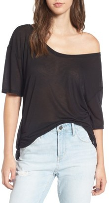 Women's Treasure & Bond Off The Shoulder Tee $39 thestylecure.com