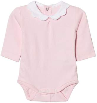 Mayoral Pink Scallop Collar Onesie