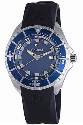 Calibre 44mm Men's Sea Knight Rubber Watch, Blue