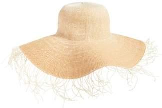 BP Fringe Ombre Floppy Straw Hat