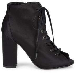 Lace-Up Satin Booties