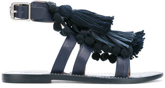 Twin-Set fringed sandals $180.66 thestylecure.com