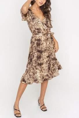 Lush Clothing Leopard-Print Midi Dress