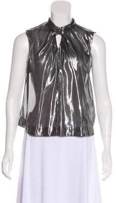 Rebecca Taylor Silk Metallic Top