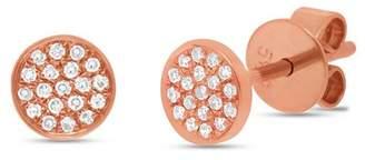 Ron Hami 14K Gold Micro Pave Diamond Circular Stud Earrings - 0.07 ctw