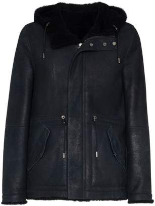 Yves Salomon Reversible hooded leather parka jacket