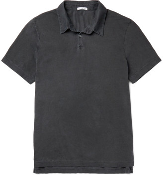 James Perse Slim-Fit Supima Cotton Polo Shirt $95 thestylecure.com