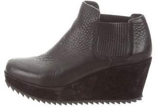 Pedro Garcia Leather Wedge Booties