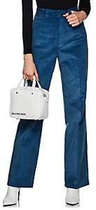 Helmut Lang Women's Cotton Corduroy Wide-Leg Trousers - Blue