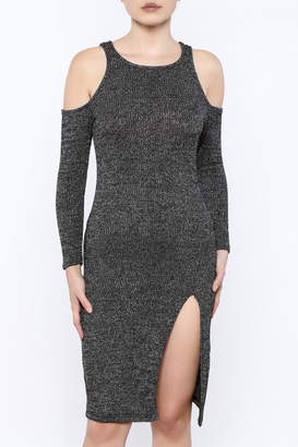 Bloom Black Fitted Dress