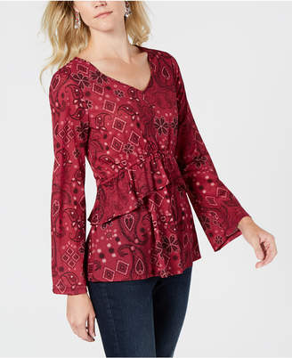 Style&Co. Style & Co Bell-Sleeve Top