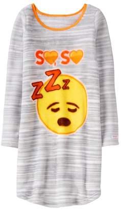 Crazy 8 Emoji Fuzzy Night Gown