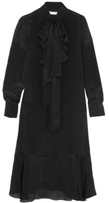See by Chloe Pussy-bow Crepe De Chine Dress - Black
