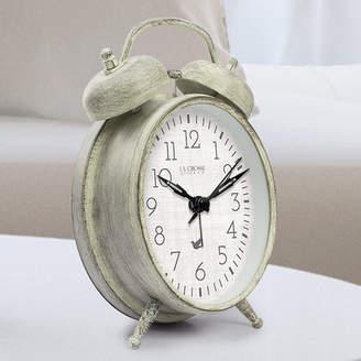 La Crosse Technology Weathered Metal Analog Table Clock