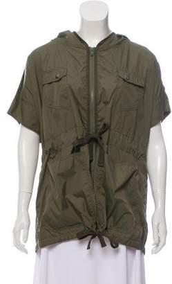 Yigal Azrouel Cut25 by Short Sleeve Hooded Jacket