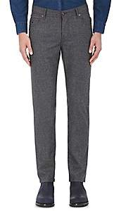 Marco Pescarolo Men's Stretch-Cashmere Flannel Pants - Gray