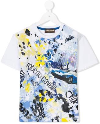 Roberto Cavalli car print T-shirt
