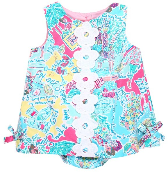 Lilly Pulitzer Baby Lilly Shift (Infant) (Multi In The Beginning) - Apparel