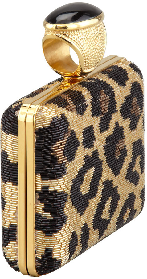 Tom Ford Leopard Beaded Ring Clutch