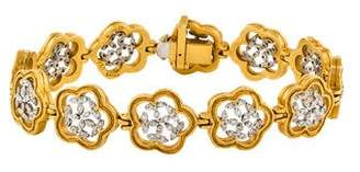 Cathy Waterman 22K and Platinum Diamond Flower Link Bracelet