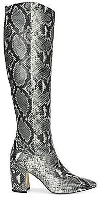 Sam Edelman Women's Hai Knee-High Snakeskin-Embossed Leather Boots