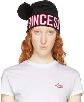 Dolce & Gabbana Black Logo Princess Beanie