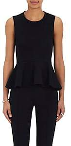 Lisa Perry Women's Cotton-Blend Peplum Top - Black